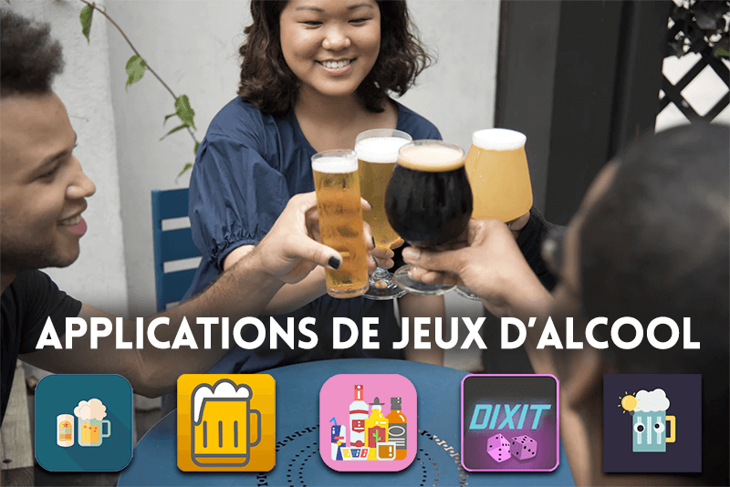 Applications de jeux d'alcool